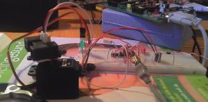 Versuchsaufbau optischer Distanzsensor